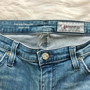 Ag Adriano Goldschmied Jeans - AG Stilt Cigarette Roll Up Cuff Slim Jeans